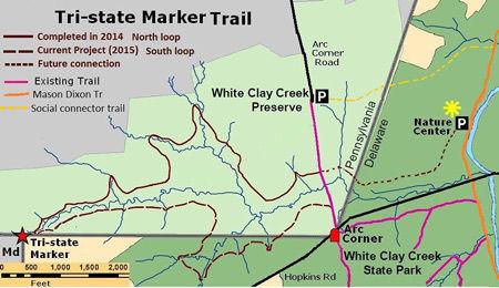 New trail provides first public access to Mason-Dixon Tri-State ...