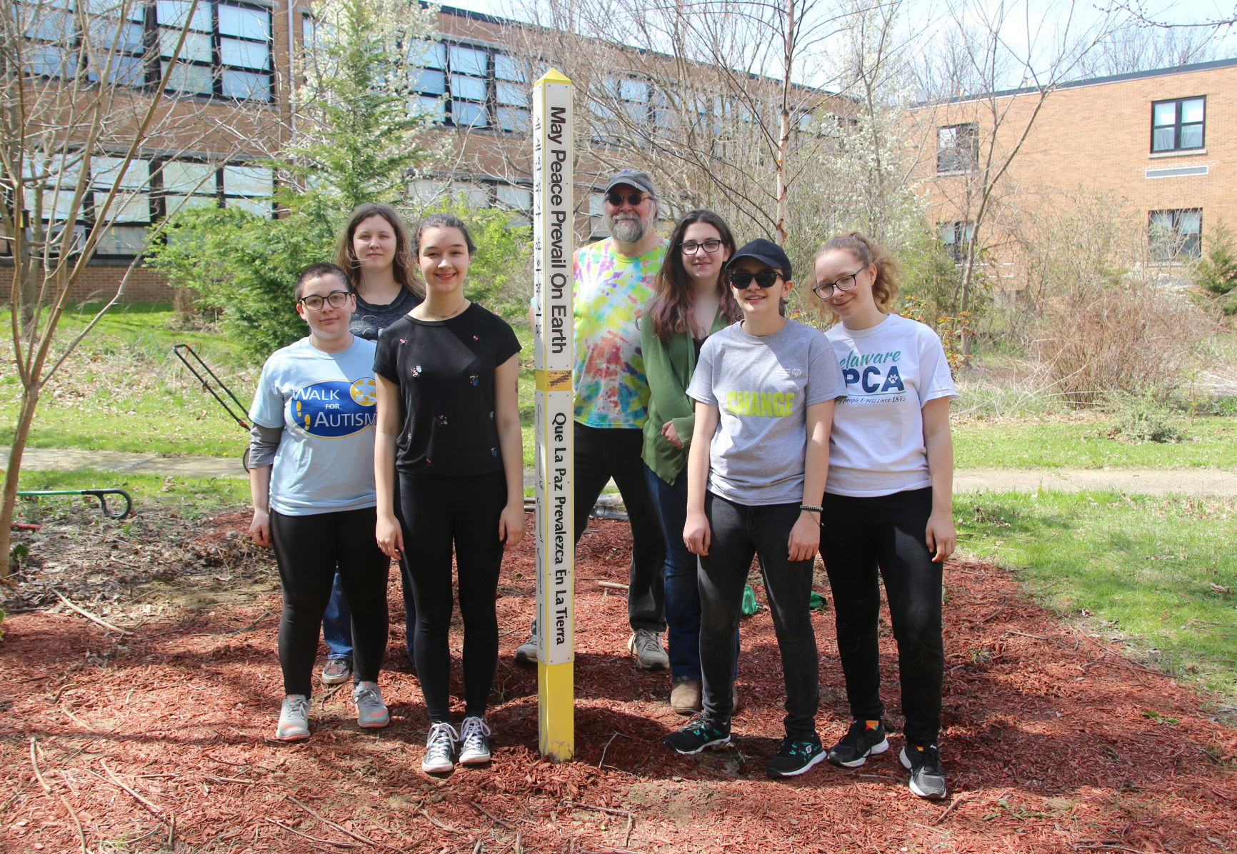 Newark High students install peace and remembrance garden | Newark Post