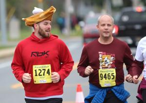 Hundreds run in annual Turkey Trot races
