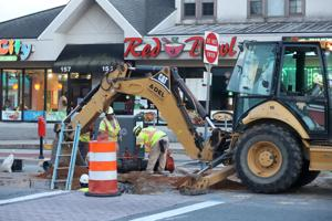 Main Street water main work prompts some restaurants to close Monday
