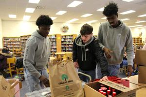 Newark High students gather items for homeless during Code Purple