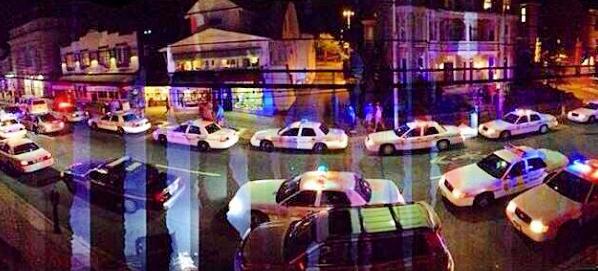 Police presence in Newark