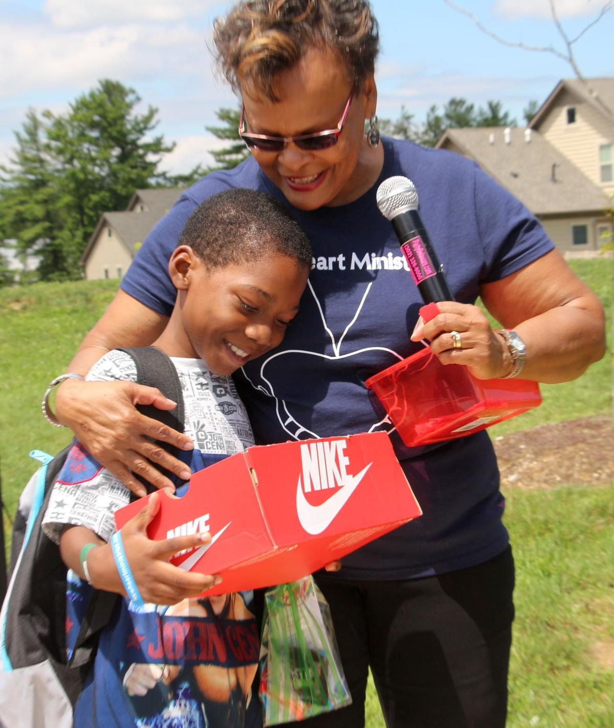 Newark Church Gives Away Backpacks At Alder Creek