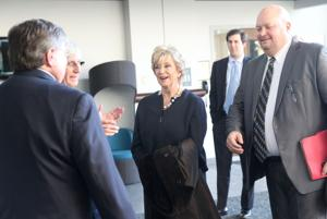 Small Business Administration chief Linda McMahon visits Newark business