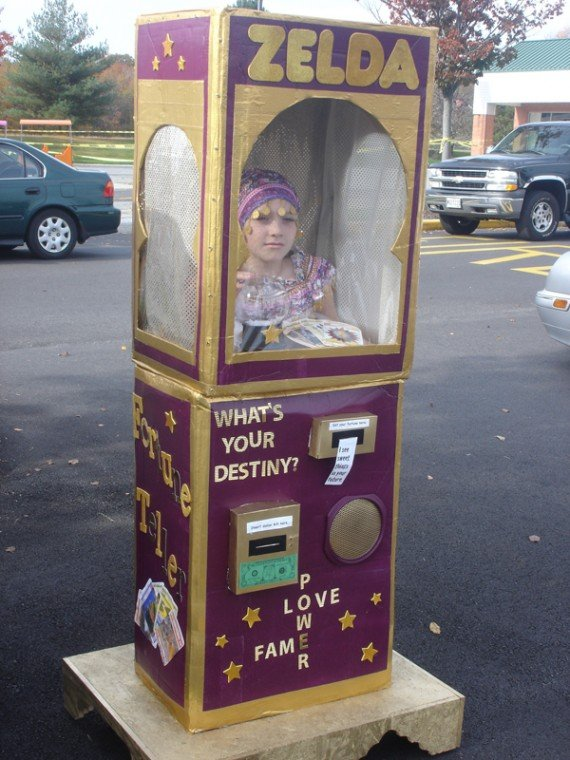 nine year old marissa morgan of elkton won last years halloween costume contest with her homemade fortune teller costume get creative this halloween and