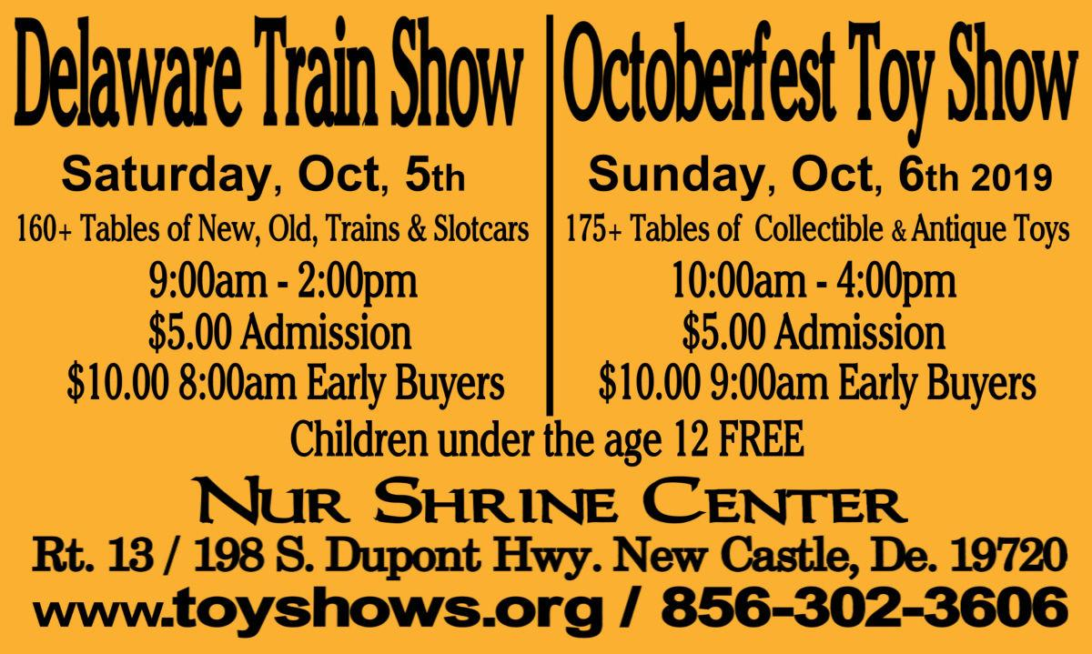 Delaware Train Show and Octoberfest Toy Show 2019 Flyer