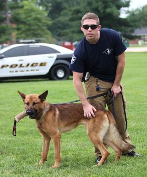 Newark's newest K-9 tracks down shoplifting suspect hiding in a bush