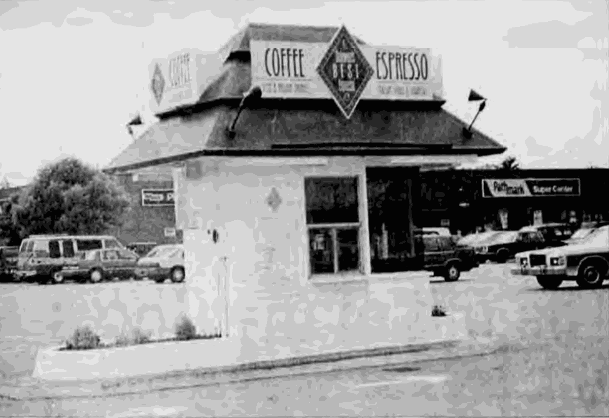 Out of the attic: Coffee booth at College Square