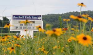 Shue-Medill Middle School turns field into wildflower meadow