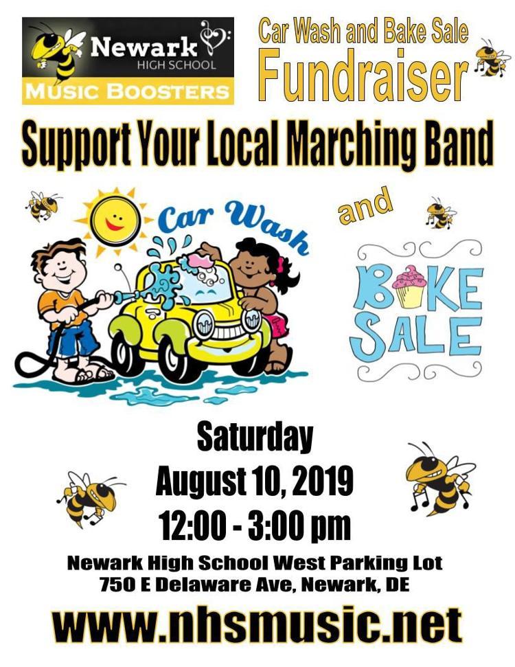 Newark High School Marching Band Car Wash and Bake Sale