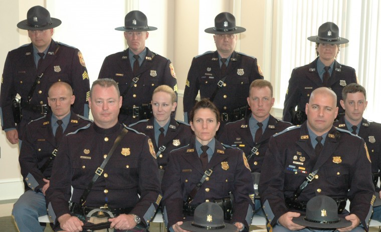 Delaware State Police Employees Rise To New Ranks Newark