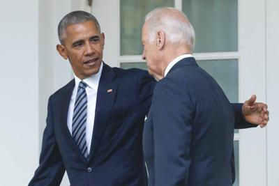 Obamabacks Biden as leader for 'darkest times'