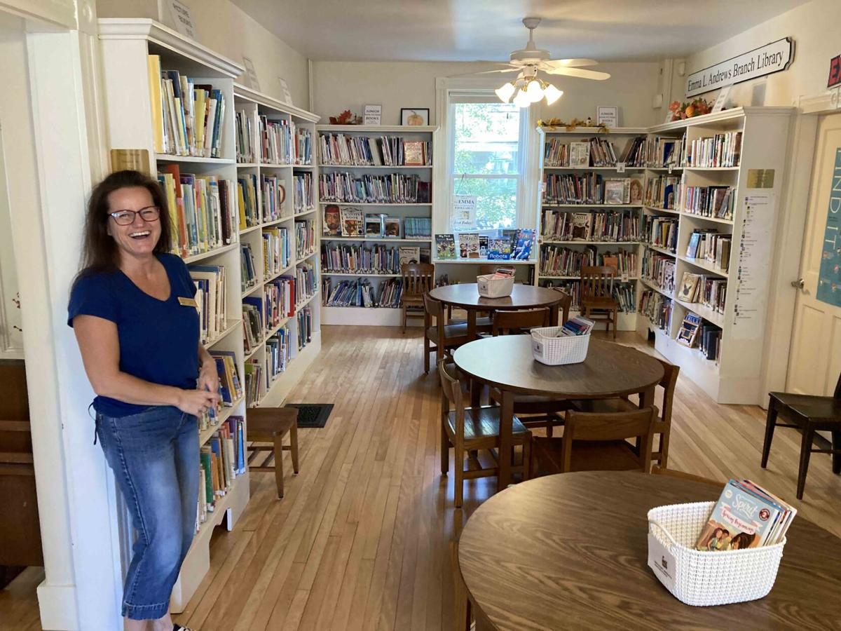 Library president Kim Klapes
