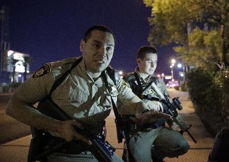 Las Vegas shooting chaos