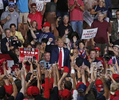 Trump rallies for support in NH