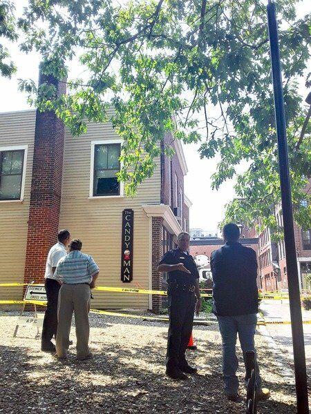 Buckling brick façade closes Inn Street intersection