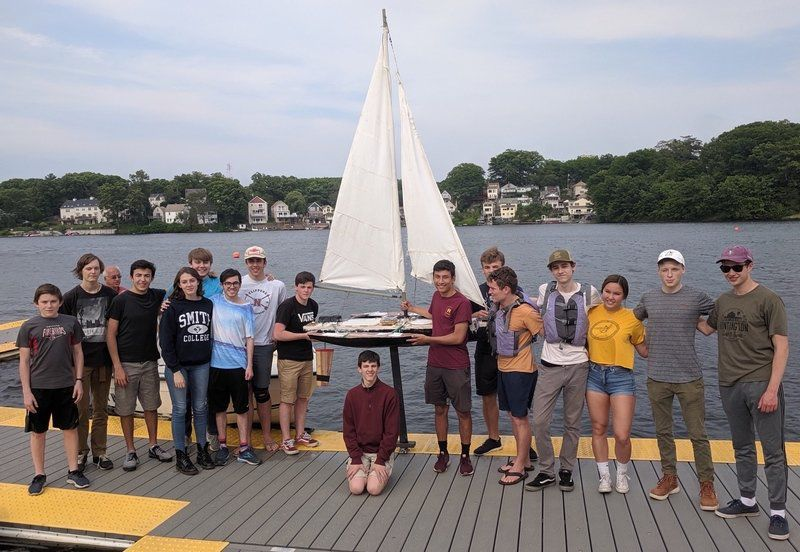NHS students win international robotic sailboat regatta