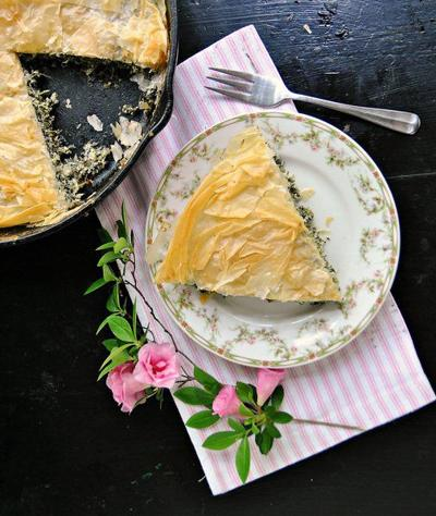 Surprise Mom with skillet spinach pie