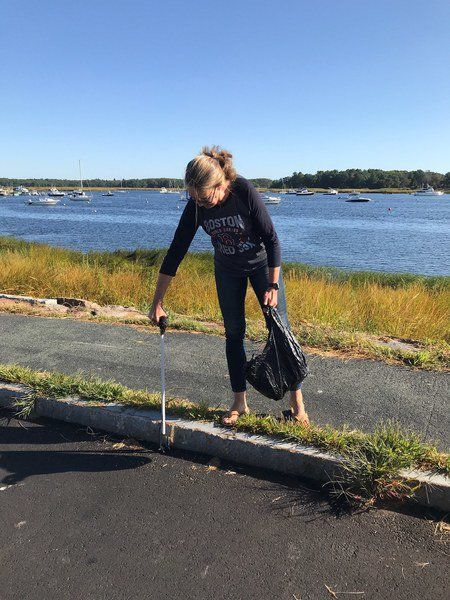 Newburyport 'plogging' group cleans city one cigarette butt at a time