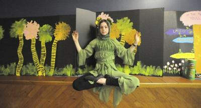 Nina Sesto plays a frog in the Amesbury Children's Theatre production.