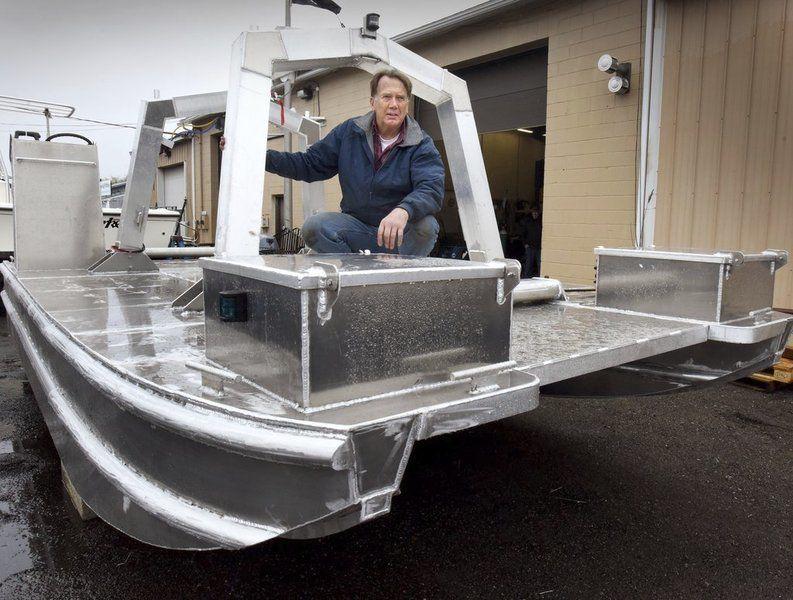 Local scientist, welder create seaweed harvesting boat
