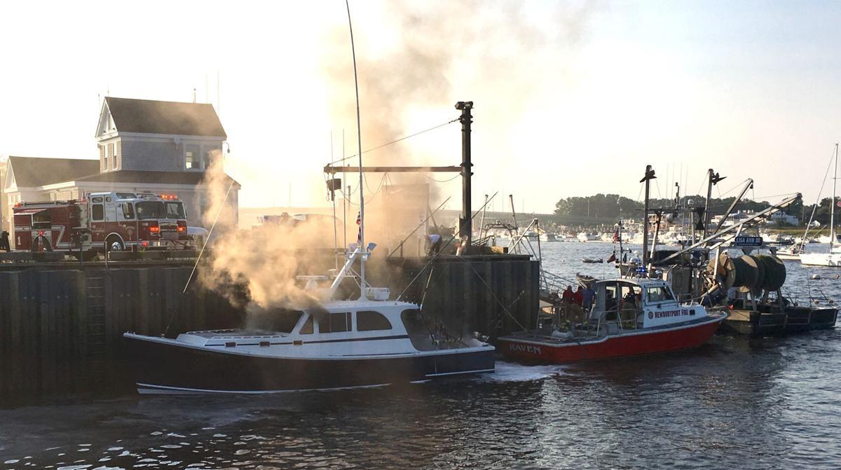 Boat burns in Newburyport