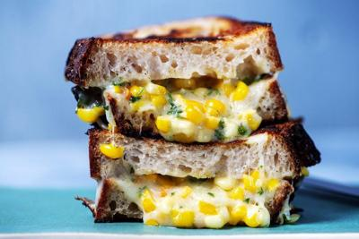 Make the best sandwich with Korean corn cheese
