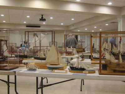 Ship models displayed for Yankee Homecoming