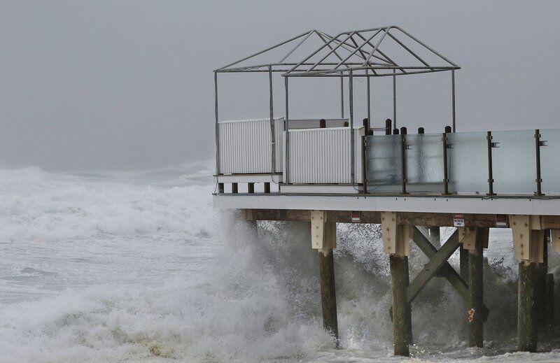 Winds, waves lash the coast