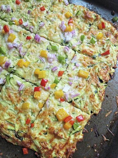 Zucchini fans will flip for this pizza crust