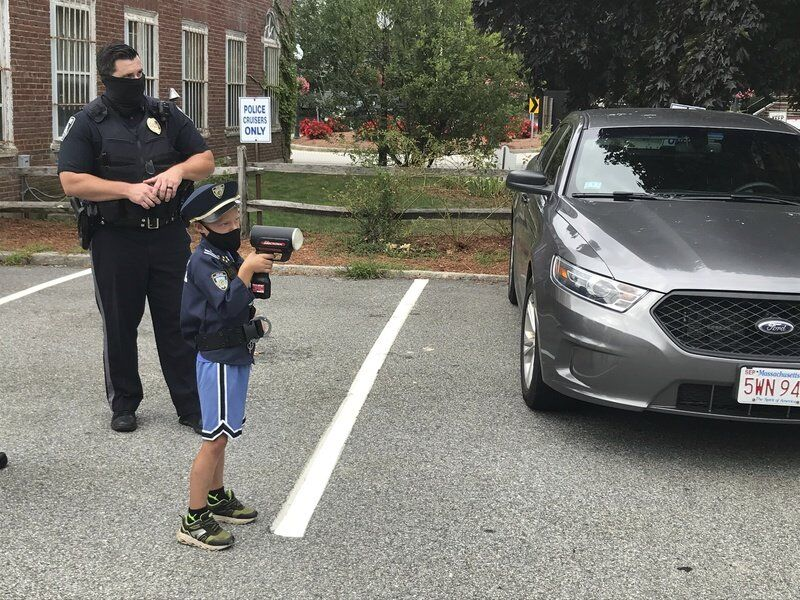 Boy visiting each police station in county