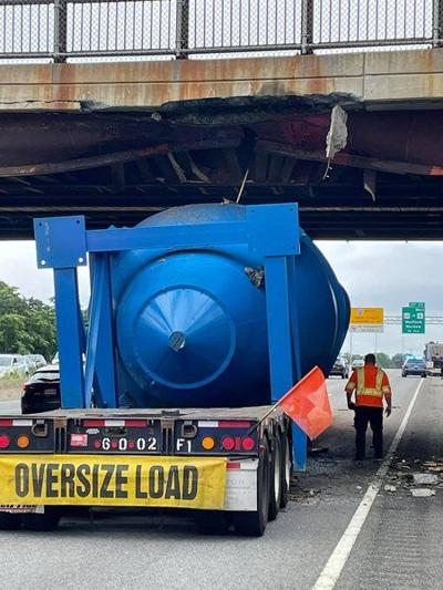Truck driver cited for causing extensive damage to Medford overpass