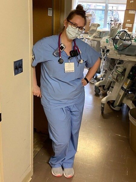 COVID posed 'baptism by fire' for respiratory therapist in training