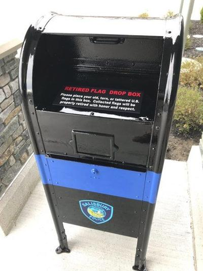 Salisbury police unveil collection box for old flags