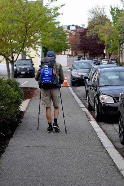 Newburyport man starts walk across America for veterans