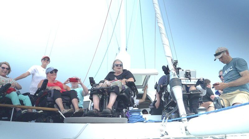Visiting catamaran and crew show what's possible
