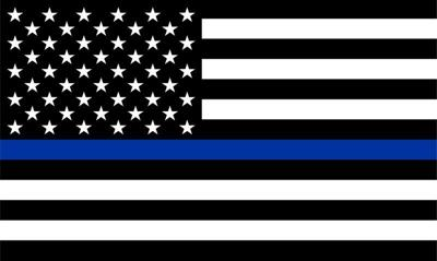 Port man reports theft of 'thin blue line' flag