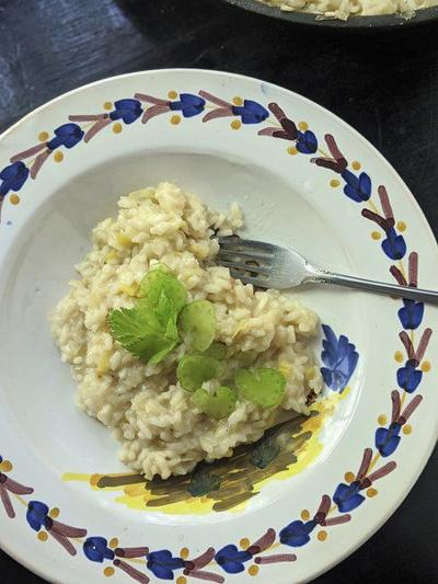 Shredded pear an unexpected delight in creamy risotto