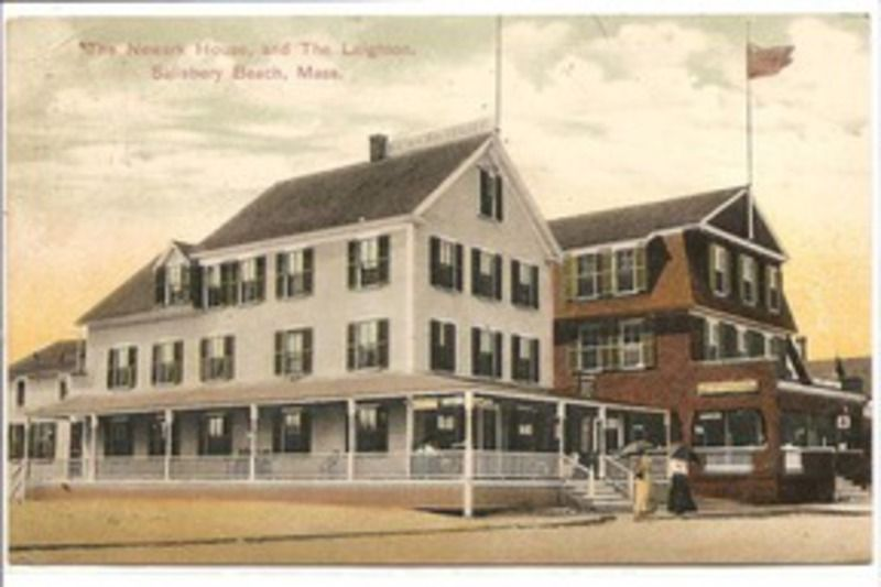 The Newark House And Leighton Hotel On Salisbury Beach Prior To Devastating Fire Of 1913 That Destroyed Them Along With Over 100 Other Buildings