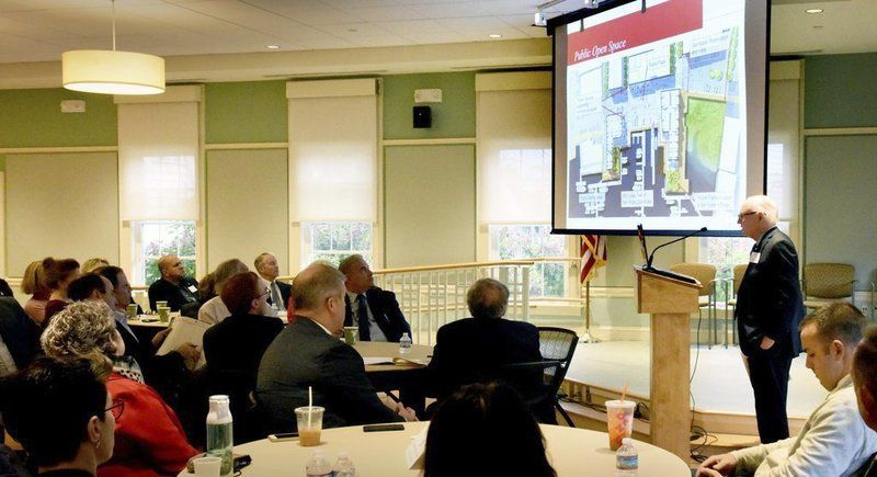 Karp discusses Waterfront West plans at Chamber breakfast