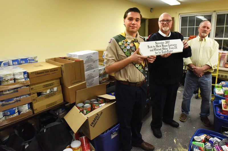 Salvation Army food pantry redesigned for Eagle Scout project