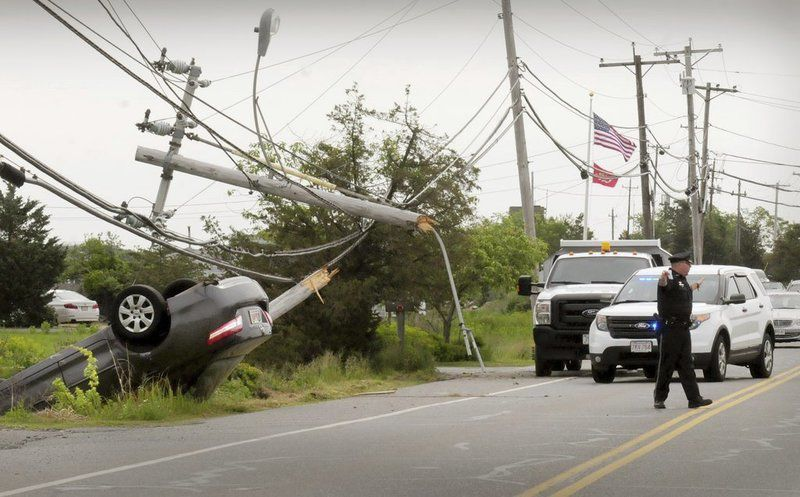 Plum Island residents lose power for hours after car hits pole