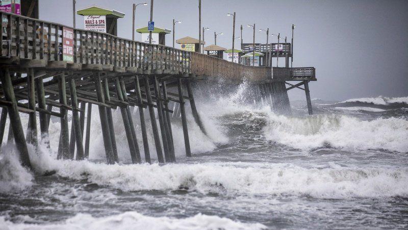 Weakened Dorian howls over NC's Outer Banks
