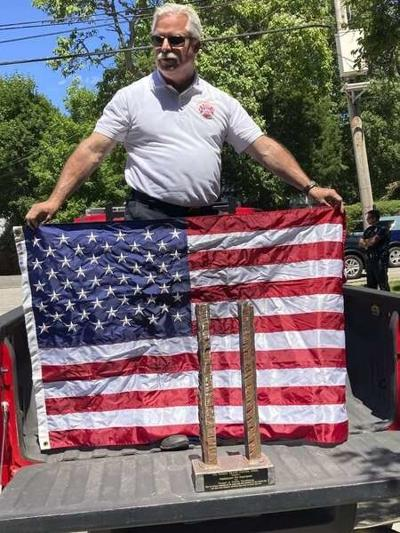 Steel from World Trade Center delivered to Newburyport