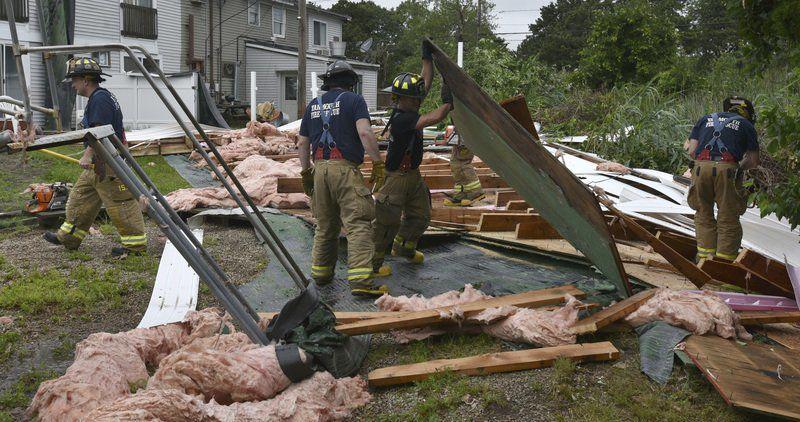 Tornado tears roof off Cape Cod hotel