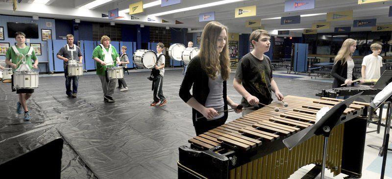 Triton students host percussion, color guard competition