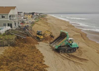 Beach sand replenishment begins in Salisbury