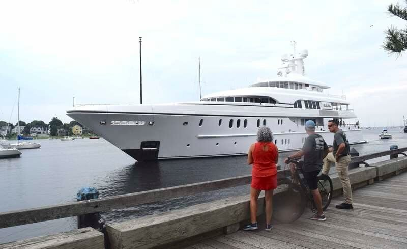 Largest yacht to visit in years arrives in style