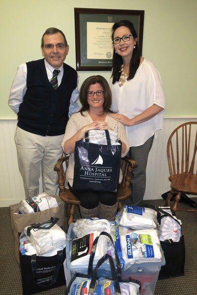 AJH, localdoctors collect socks for homeless