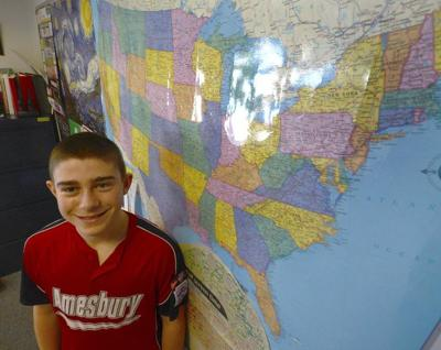 Middle school student heading to state geography bee